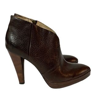 The Frye Company Brown Harlow Campus Bootie 6M